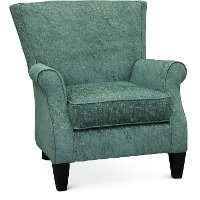 Classic Blue-Green Accent Chair - Loom