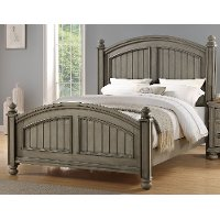 Casual Classic Gray Queen Bed - Barnwell