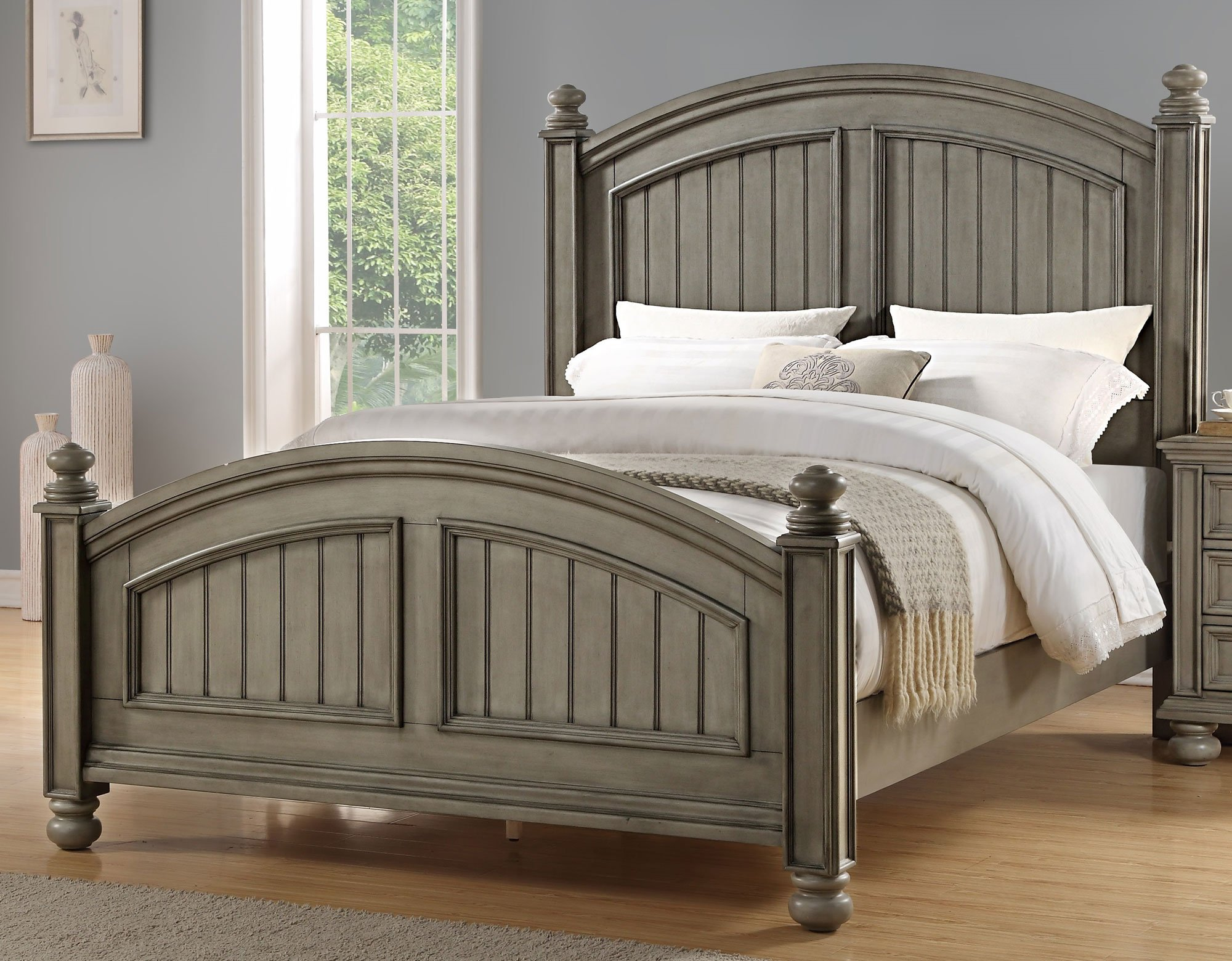 Casual Classic Gray 6 Piece King Bedroom Set Barnwell Rc Willey Furniture Store