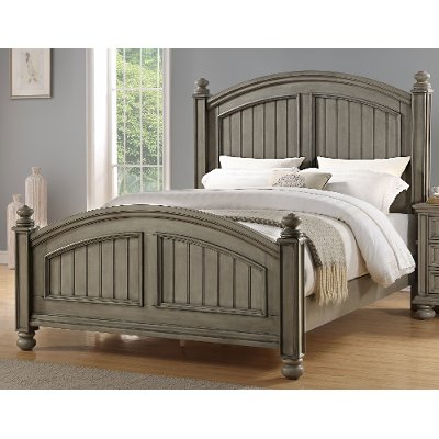 Casual Classic Gray King Size Bed - Barnwell
