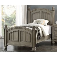 Casual Classic Gray Twin Bed - Barnwell