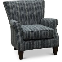 Classic Navy Blue Wing Back Chair - Reena