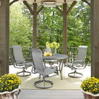 5-Piece Round Outdoor Patio Dining Set - Daytona