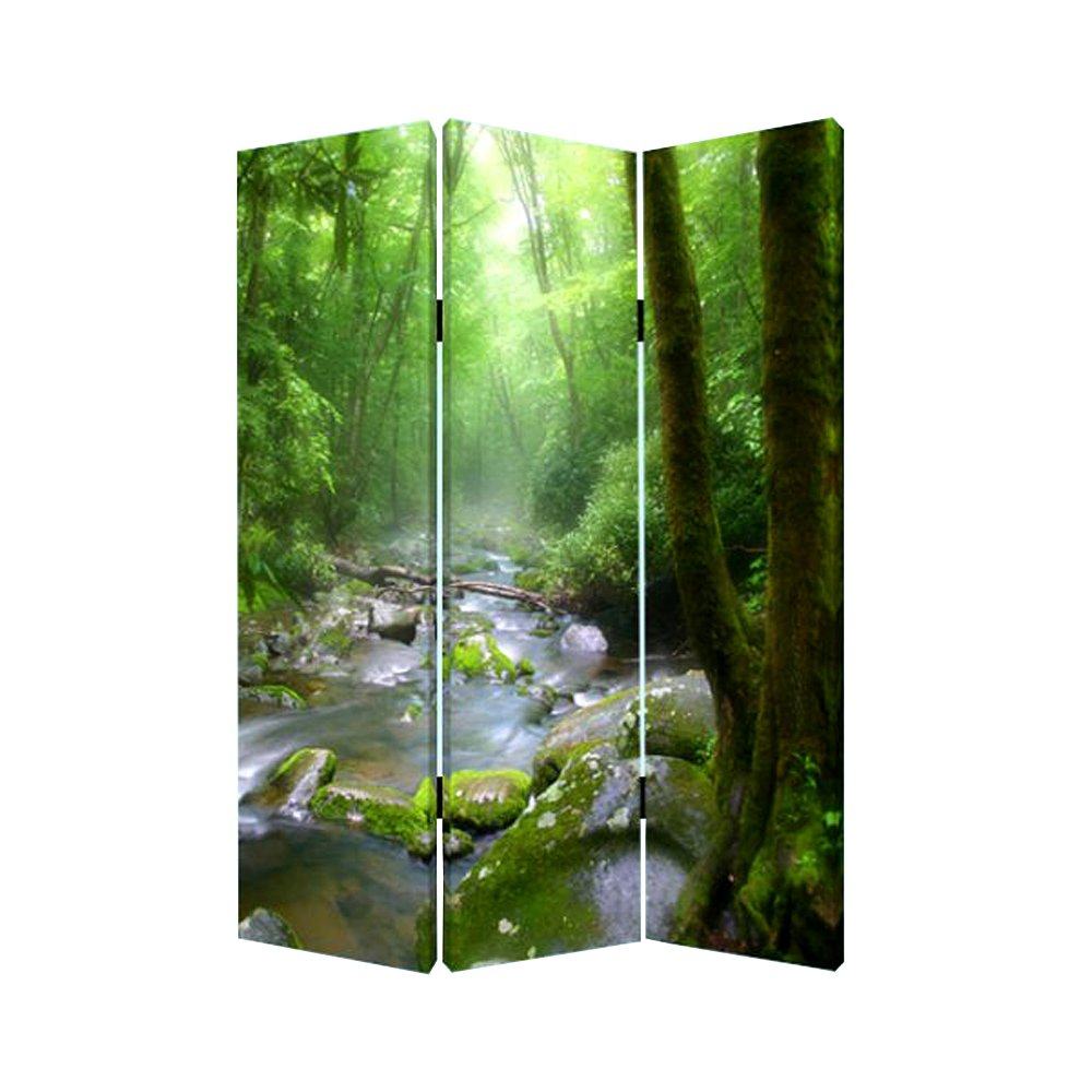 Meadows and Streams Reversible 3 Panel Screen Room Divider RC