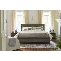 Modern Two-Tone King Storage Bed - Spencer