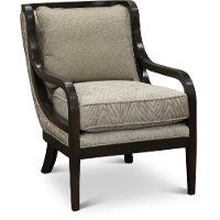 Transitional Champagne Accent Chair - Benson