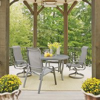 5 Piece Round Outdoor Patio Dining Set - Daytona