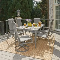 7 Piece Gray Outdoor Patio Dining Set - Daytona