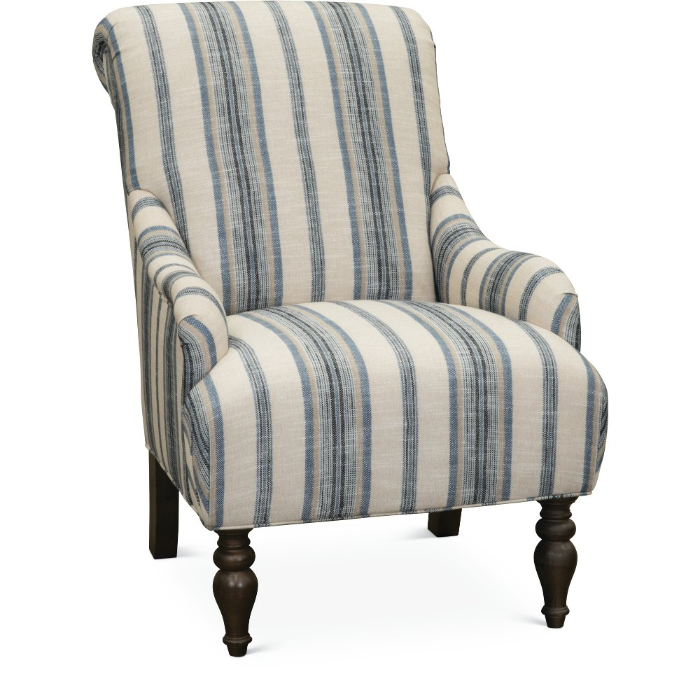 Classic English Striped Accent Chair - Survey