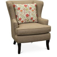 Light Brown Wingback Chair - Bahama