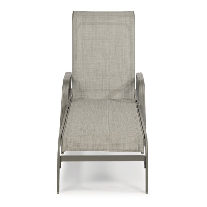Gray Contemporary Outdoor Patio Chaise Lounge Chair   Daytona