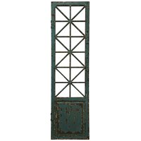 Old Traditional Weathered Wood Door Panel Wall Hanging
