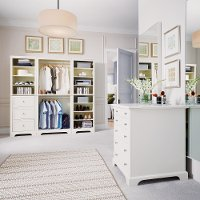 White 4 Piece Closet Organizer - Naples
