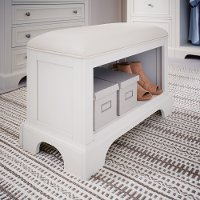 Classic White Storage Bench - Naples