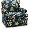 225-462/D154286 Helene Floral Swivel Glider Accent Chair - Roxie