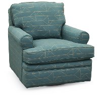 225-462/F150393 Turquoise Tamarack Swivel Glider Accent Chair - Roxie