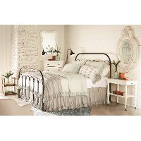 Magnolia Home Furniture Bronze King Metal Bed - Colonnade