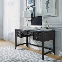 Contemporary Gray Writing Desk - 5th Avenue