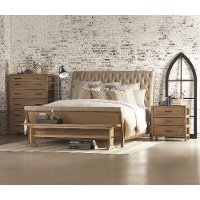 Magnolia Home Furniture Queen Upholstered Sleigh Bed - Camion