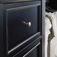 Classic Black Closet Wall Drawer Unit - Bedford