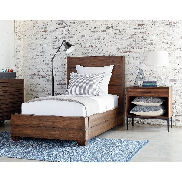 ... Clearance Magnolia Home Furniture Brown Twin Bed   Framework