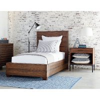 Magnolia Home Furniture Brown 4 Piece Twin Bedroom Set - Framework
