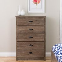 Rustic Modern Drifted Gray Chest of Drawers - Salt Spring
