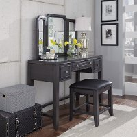 Classic Contemporary Gray Vanity Set - 5th Avenue