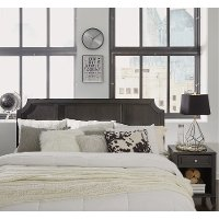 Classic Contemporary Gray King Headboard and Nightstand - 5th Avenue