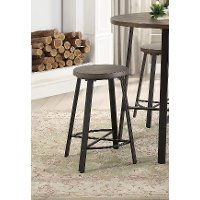 Oak And Metal 24 Inch Counter Height Stool Chevre Rc Willey