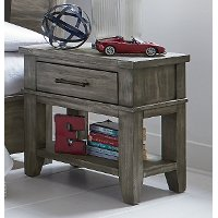 Rustic Casual Gray Youth Nightstand - Nelson