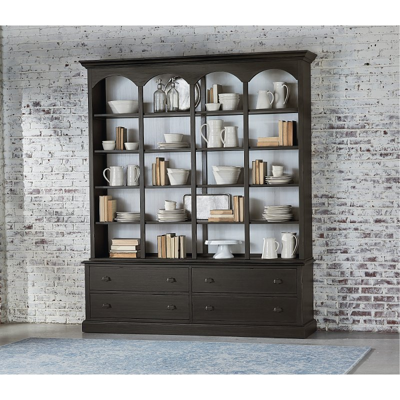 edc5a726d Vienna Brown Modern China Cabinet - Magnolia Home   RC Willey ...