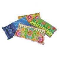 Assorted Multi-Color Throw Pillow