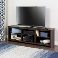 Contemporary Espresso Brown TV Stand (72 Inch) - Sonoma