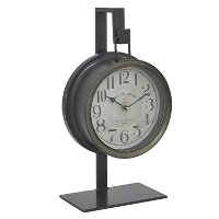 Gunmetal Gray Table Top Clock