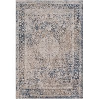 DUR1010-5373 5 x 7 Medium Taupe and Charcoal Gray Area Rug - Durham