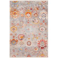 EPC2302-91210 9 x 13 X-Large Transitional Gray, Red, and Blue Rug - Ephesians