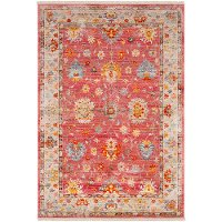 EPC2306-279 Transitional Red 9 Foot Runner Rug - Ephesians