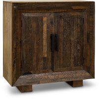 Brown Wood Framed Accent Cabinet - Rustic