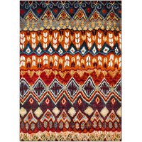 SRP1017-23 2 x 3 X-Small Red, Blue and Orange Area Rug - Serapi