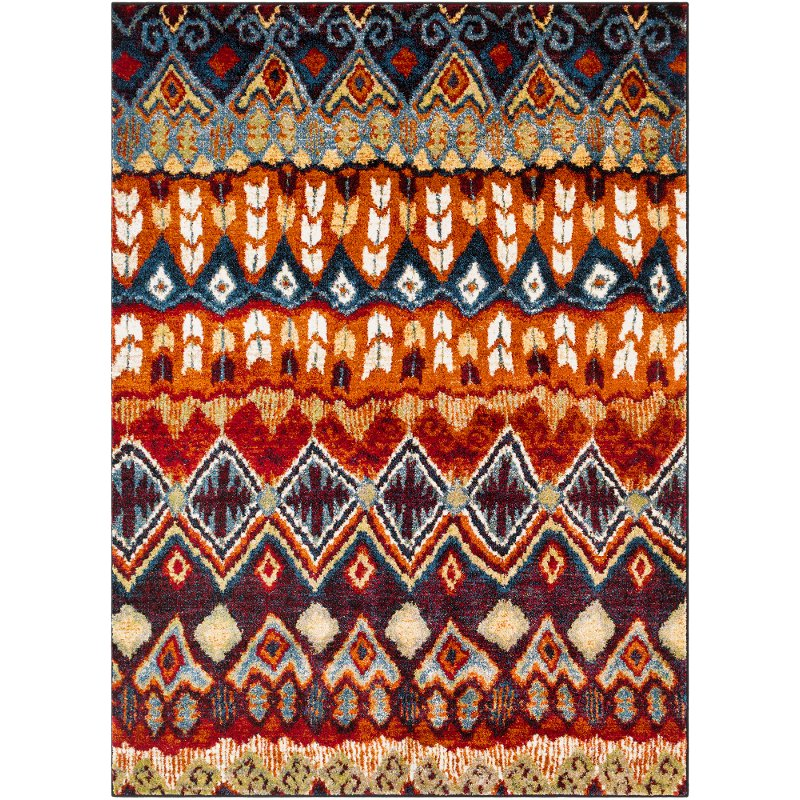 10 X 13 Large Red Blue And Orange Area Rug Serapi Rc Willey Furniture