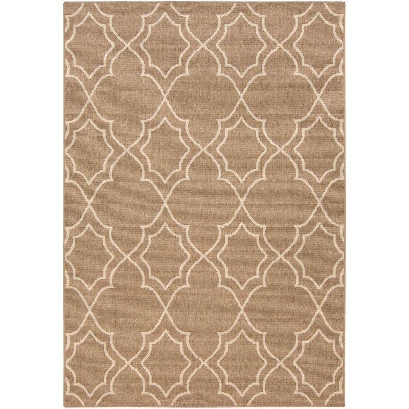 2 x 4 x small camel and cream indoor outdoor rug   alfresco rcwilley image1~800