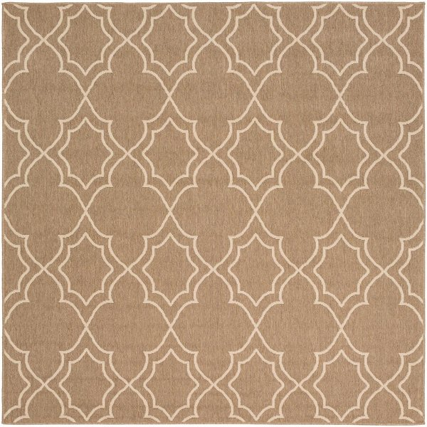 Alf9587 89sq 9 Square Camel And Cream Indoor Outdoor Rug Alfresco