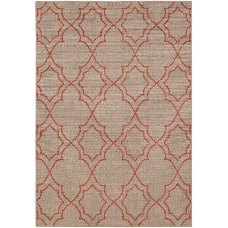 2 x 4 x small camel and rust indoor outdoor rug   alfresco rcwilley image1~800