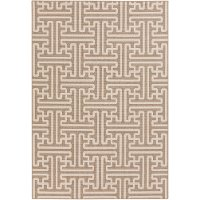ALF9599-76109 8 x 11 X-Large Camel and Cream Indoor-Outdoor Rug - Alfresco