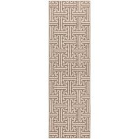 ALF9599-2379 Beige and Cream Indoor-Outdoor 8 Foot Runner Rug - Alfresco