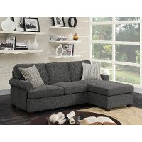 Gray Chaise Sofa Bed - Tranquility