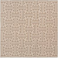 ALF9599-89SQ 9' Square Camel and Cream Indoor-Outdoor Rug - Alfresco