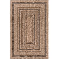 MMS2301-23 2 x 3 X-Small Dark Brown Indoor-Outdoor Area Rug - Marmaris