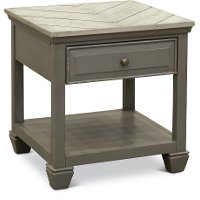 Classic Cool Gray End Table - Jordan